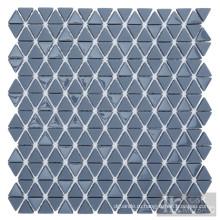 Серый треугольник стеклянная мозаика для украшения стен
