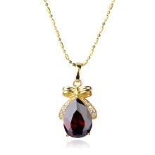Xuping мода позолоченные ювелирные изделия Кулон ожерелье с сердце дизайн Кристалл циркон 30915