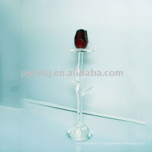 2015 cadeaux de mariage rose cristal, figurine de fleur, usine de cristal