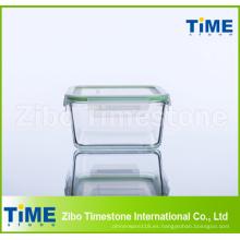 Caja de almacenamiento de alimentos de vidrio de borosilicato alta