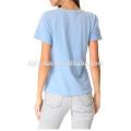 Haute Qualité Vêtements Fabricant Conception à manches courtes femmes chemisier tshirt