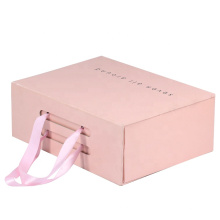 Custom Print Wholesale Paper Cardboard Suitcase Gift Box With Handle
