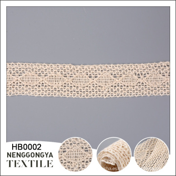 Nueva llegada Diferentes tipos de ajuste suave del cordón del algodón de la ropa