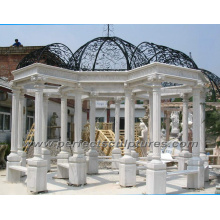 Stone Marble Granite Garden Gazebo for Garden Sculpture (GR030)