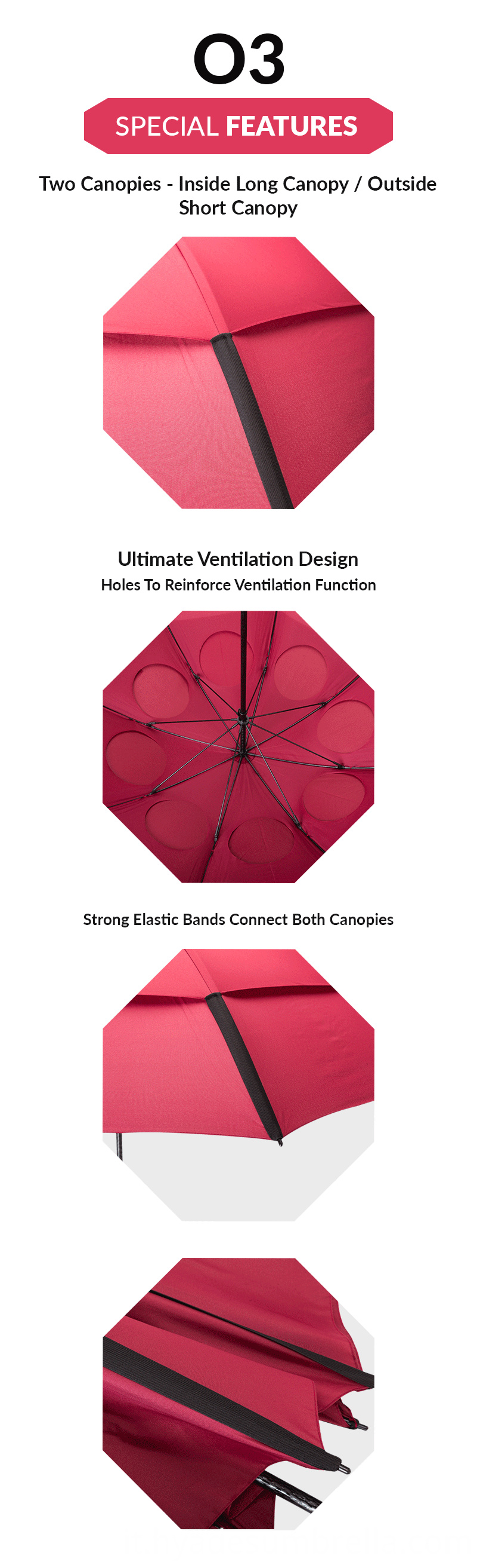 Large Ventilation Windproof Golf Umbrella