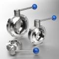 El diseño elegante se clavó las válvulas sanitarias de acero inoxidable de la bola de la mariposa