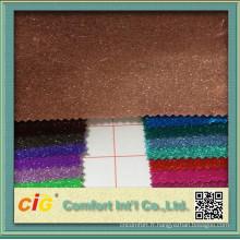 Sac ou la décoration utilisation mode PU cuir tissu Glitter