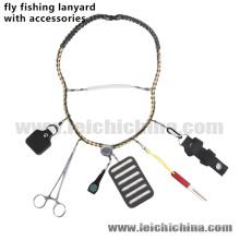 Landyard popular da pesca com mosca com acessórios