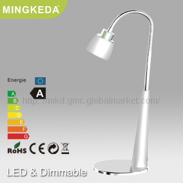 3W Black LED Touch Book Reading Lamp
