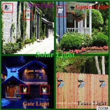 Nuevo diseño patentado de la nueva patente Mención Sensor Luz solar casera Ce RoHS