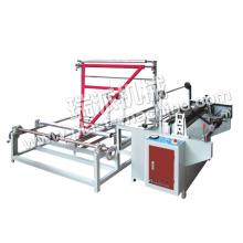 Machine de pliage et rebobinage automatique de film plastique pour sac poubelle