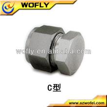Embout en aluminium en acier inoxydable