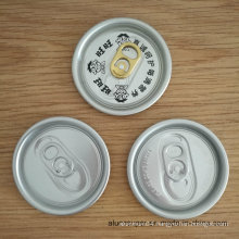 500ml Carbonated Drink Can with 57mm 206 Sot Eoe Aluminum Lids