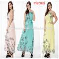 2017 en gros personnalisé femmes vêtements maxi robe pour dames vêtements avec unique dip-dye impression