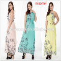 2017 Wholesale customized women clothing maxi dress for ladies apparel with unique dip-dye print