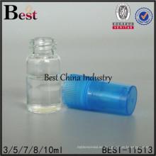 3/5/7/8 / 10ml botellas de spray de perfume de cristal, botella de perfume de resina con pulverizador azul