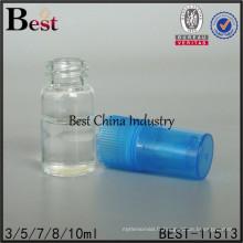 Bouteilles de pulvérisation en cristal de parfum de 3/5/7/8 / 10ml, bouteille de parfum de résine avec le pulvérisateur bleu