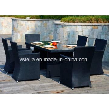 Outdoor Wicker Rattan Patio Textilene Möbel