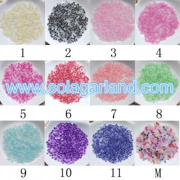 Decorative Clear Glass Color Lined Seed Beads Spacer Glas Beads