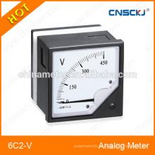 Voltímetro de painel analógico redondo dc série 6C2-V