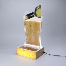 Expositores Apex LED acrílico para cerveja para beber