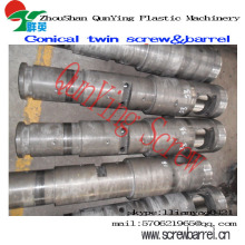 extruder conical barrel and screw for PVC