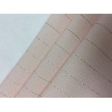 Bolha de poliéster com tecido sólido de prata Lurex