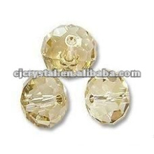 Grosso de cristal de 6 milímetros facetado Rondelle Beads