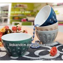 KC-04010dots arroz divertido / tazón de fuente de la sopa, tazón grande de la manera