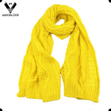 Women Winter Acrylic Jacquard Pattern Scarf