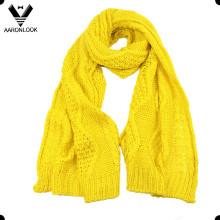 Женский зимний акриловый жаккардовый узорный шарф