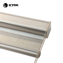 KYOK day and night blackout fabric canvas day night roller blinds