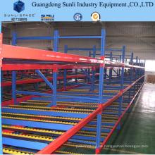 Stahlspeicher-Rollen-Fluss-Selbstschieben-Schwerkraft-Gestell