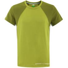 Мода два тона пустой хлопок женщина футболку