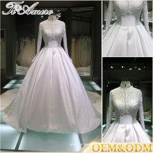 Amor sexy querido para sempre laço 3 vestido de noiva com manga 4