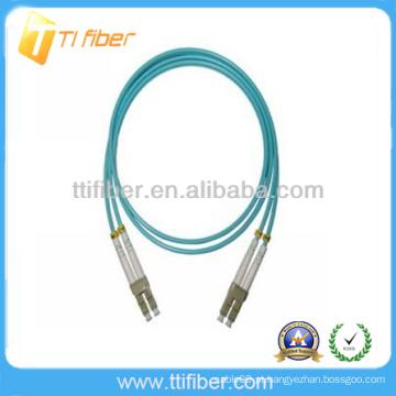 OEM fábrica LC-LC OM3 10G Fibra óptica cabo de remendo cabos