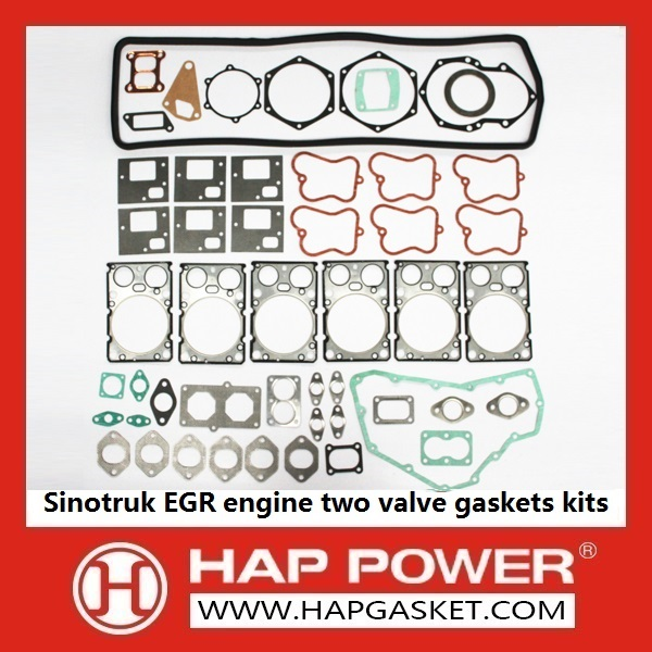 HAP-HD-0016 Sinotruk EGR engine two valve gaskets kits