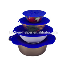 Food grade silicone sealing lids silicone suction lid silicone lids