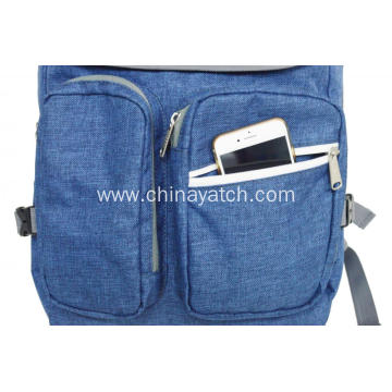 Multifunction Grosshatch Backpack with Pockets