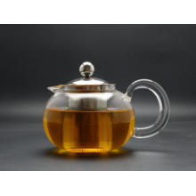 Glass Kettle Tea Pot with 304 Stainless Steel Filter, High Brosilicate Pot Made by Hand