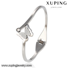 51517 Fashion Elegant CZ Butterfly Stainless Steel Jewelry Bangle for Women