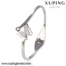 51517 moda elegante cz borboleta jóias pulseira de aço inoxidável para as mulheres