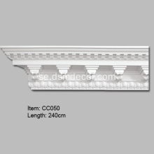 Polyuretan Dekorativa Dentil Crown Mouldings