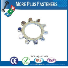 Made In Taiwan External Tooth Washer Internal Toothed Washer Wave Washers