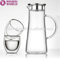 Top Selling Handblown Clear Heat Resistant Glass Water Jug Set