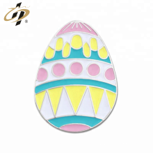 Custom metal silver enamel Easter egg lapel pins