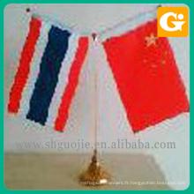 Poteau de drapeau de bureau et stand en gros