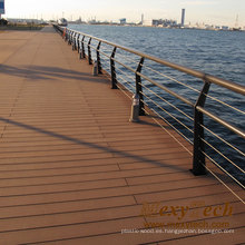 Solid Marine Dock Recycle Plastic Flooring Madera Muebles Decking