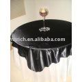 100% poliéster toalha de mesa, tampa de tabela do Hotel/banquete, sobreposição de mesa cetim