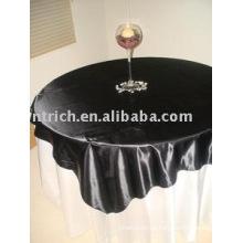 100% mantel del poliester, cubierta de tabla del banquete del Hotel, satén Table Overlay